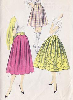 1950s Full Skirt In 3 Styles