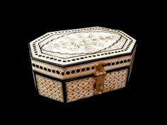 Painted camel bone box, from Rajasthan. In stock right now Casket, Handicraft, Bones, Decorative Boxes, Painting, Craft, Arts And Crafts, Paintings, Draw