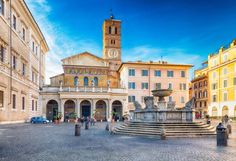"The Santa Maria de Trastevere Church is gorgeous, and you won't have to fight the crowds to see it. Image courtesy of <a href=""http://www.shutterstock.com/dl2_lim.mhtml?src=62UooHsq3PfEGaHboDx-JA-1-23&id=357680420&size=medium_jpg"">Shutterstock</a>."
