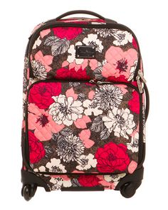 Vera Bradley Mocha Rouge Spinner. I want this for my honeymoon luggage : ) <3 <3 the biggest one they have! ( at the outlet mall)
