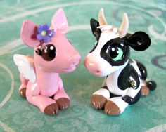 Cow and Piggy In Love by DragonsAndBeasties