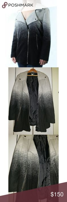 NWT Bar III Ombre Jacket Soft, lightweight, ombre jacket. Has pockets!! NWT...tag fell off while taking the pics, but I put it in the pocket 🙂. Sz XXL. Has stretch as well. 55% wool, 34% polyester & 11% acrylic lining. Bar III Jackets & Coats Pea Coats