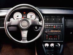 Audi old interior😍😍 Tag your friends👇 Audi Interior, Car Interior Design, Audi Quattro, Porsche 911 Gt3, Audi Sport, Vw Golf Cabrio, Carros Audi, Automobile, Toyota