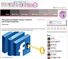 """Mi columna en el Blog de Ronnie Arias: """" Tips para proteger mejor nuestro perfil de Facebook"""