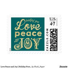 Love Peace and Joy | Holiday Postage