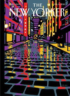 February 8, 2021 - Christoph Niemann The New Yorker, New Yorker Covers, Christoph Niemann, Thing 1, February 8, New York Street, Print Magazine, New York Travel, Art History