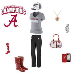 Alabama Crimson Tide National Champions Outfit - http://www.fansedge.com/Alabama-Crimson-Tide-BCS-Football-National-Champions-Merchandise-Womens-Apparel-_1094664705_PG.html?social=pinterest_wwls_alabama