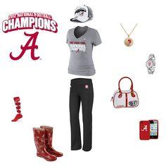 Alabama Crimson Tide National Champions Outfit - http://www.fansedge.com/Alabama-Crimson-Tide-BCS-Football-National-Champions-Merchandise-Womens-Apparel-_1094664705_PG.html?social=pinterest_wwls_alabama