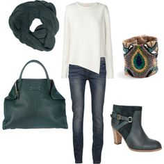 peacock green by lulums on Polyvore featuring sass & bide, VILA, Comptoir Des Cotonniers, Alexander McQueen, Roarke, Horny Toad, women's clothing, women's fashion, women and female