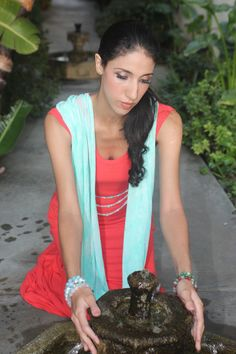 House of Shakti In the Flow Scarf Necklace