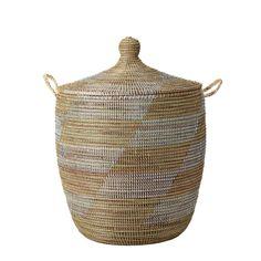 Senegalese Storage Baskets - White/Natural | Serena & Lily #serenaandlilystyle