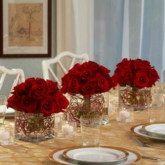 Red roses, glitter pins, wire