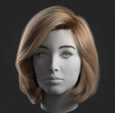 This is an Ornatrix test that started as an example for my students school, but that I wanted to take a bit further. I've been using mostly Yeti in Maya as a hair solution for my personal projects, and then spent a year working exclusively on 3d Model Character, Character Modeling, Character Art, Female Head, Female Bodies, 3d Face Model, Zbrush Hair, Anatomy Sculpture, Parted Bangs