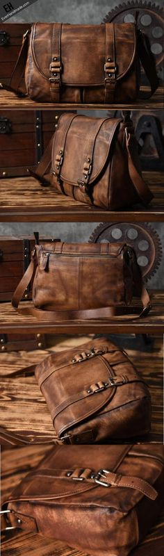 4c102c63a9f Handmade leather men Briefcase messenger vintage shoulder laptop Leather Men,  Men s Leather Bags, Vintage
