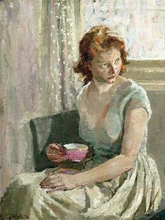"huariqueje: ""The Little Red-Haired Girl - Ethel Leontine Gabain British 1883-1950 """