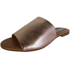 693c8e935e9 Steve Madden Womens Slidur Flat Sandal Rose Gold 6 M US    Special product  just