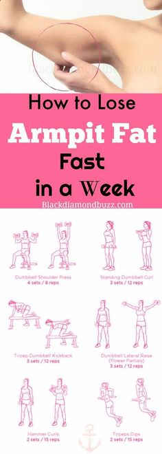 How to Lose Armpit Fat Fast in a Week - Slim arms fast now .Included are the bes. LaTasha White latashawhite Health & Exercise Tips How to Lose Armpit Fat Fast in a Week - Slim arms fast now .Included are the best exercises to reduce flabby upper a Loose Arm Fat, Lose Arm Fat Fast, Abs Fast, Lose Back Fat, Workout To Lose Weight Fast, Loose Weight Fast, Slim Fast, Reduce Weight, Quick Weight Loss Tips