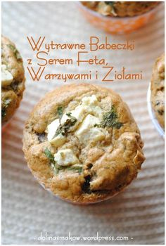 Muffinki owsiane z serem feta – wersja light! Savoury Baking, Antipasto, Baked Potato, Food And Drink, Appetizers, Healthy Recipes, Healthy Food, Cheese, Cooking