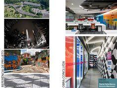 Projeto DM/AM para LinkedIn. Referências cidade de São Paulo - SP. Marquise do Ibirapuera no forro, Neon, calçada de SP, arte urbana.