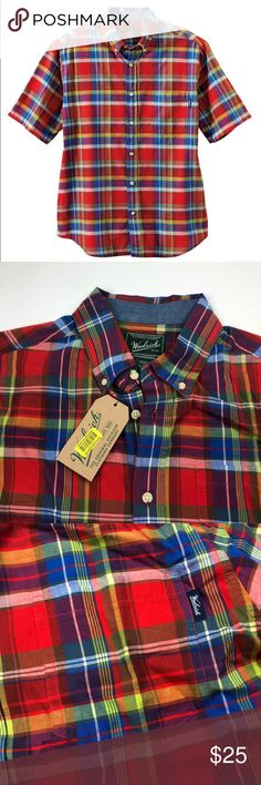 NWT Woolrich Plaid Timberline Button Down Shirt Brand new with tags! Size large. Red, blue, green check. No trades! *09578* Woolrich Shirts Casual Button Down Shirts