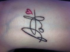 Someone's father's signature tattoo on her wrist. In loving memory. Plan on doing this with my loved ones- much smaller though!!