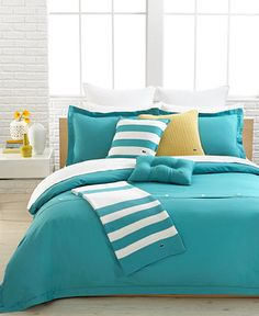CLOSEOUT! Lacoste Solid Stillwater Brushed Twill Comforter and Duvet Cover Sets - Bedding Collections - Bed & Bath - Macy's