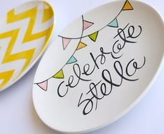 Custom keepsake plates for each kid's birthday!  Love the idea of keeping them as a gift to them when they are older.  Shop owner is GREAT to work with!  The Celebrate Collection Special Day  Birthday by AedrielOriginals, $37.00