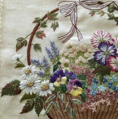 #вышивка #ручнаяработа #embroidery #handmade _____ @berrin_sengoz Hand Embroidery Projects, Types Of Embroidery, Silk Ribbon Embroidery, Embroidery Applique, Floral Embroidery, Cross Stitch Embroidery, Embroidery Patterns, Etiquette Vintage, Brazilian Embroidery