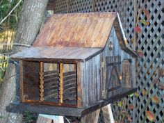 Old Farm Shed by Mill Creek Crafts Fairy Tree Houses, Bird Houses Diy, Tiny Houses, Popsicle Stick Houses, Bird Feeding Station, Farm Shed, Bird House Plans, Old Farm, Country Farm