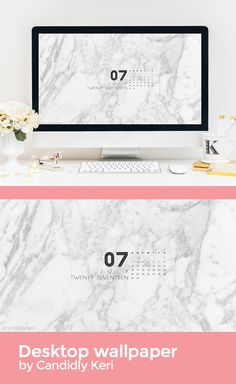 Marble organized July calendar 2017 wallpaper you can download on the blog! For any device; mobile, desktop, iphone, android!