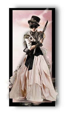 """Blush and Black Steampunk"" by auntiehelen ❤ liked on Polyvore featuring art"