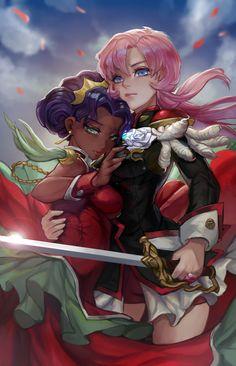 Nov 2019 - Revolutionary Girl Utena Utena and Anthy Manga Anime, Art Anime, Manga Art, Otto Schmidt, Fantasy Character, Character Art, Cthulhu, Cyberpunk, Zbrush