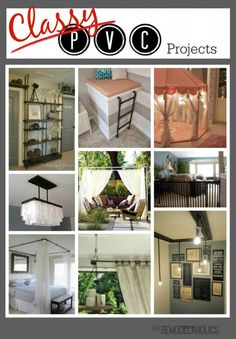 10 PVC Projects that Look Like Designer Pieces #PVC #industrialdecor #budgetfriendly