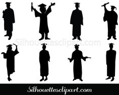 Graduation Silhouette Vector Download