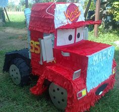 There's no fun celebration with smashing a pinata in it. These pinata craft ideas will make the party or celebration more special. Disney Cars Party, Disney Cars Birthday, Car Themed Parties, Cars Birthday Parties, Third Birthday, Boy Birthday, Piñata Cars, Car Pinata, Crafts