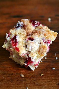 Cranberry Buttermilk Breakfast Cake, this was so good.  I'm going to try the blueberry version next.