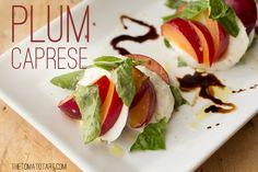 Fresh Plum Caprese Salad. Plum (or any stone fruit) burrata cheese ...