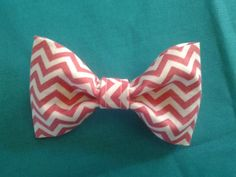Pink Chevron Pet Collar Bow Tie dog and cat collar by GymboHannah, $10.00