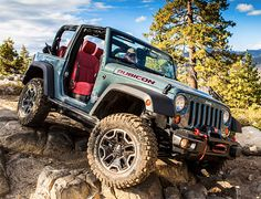 Jeep Wrangler Rubicon 10th Anniversary Edition.    Named for one of the gnarliest 4X4 trails in the Sierras, Jeep's Wrangler Rubicon turns 10 this year. The 10th Anniversary Edition Ruby features an extra 2 inches of clearance, & a winch-capable bumper up front. It also comes stock with taller, meatier BFG tires, a vented hood & red leather interior. It'll be available in 2- & 4-door versions this Spring.