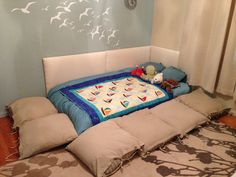 Montessori style floor bed
