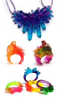 resin jewelry Love it ~ must try! #ecrafty