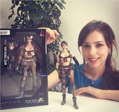 Quiet's Motion capture actor Stefanie Joosten with her action figure