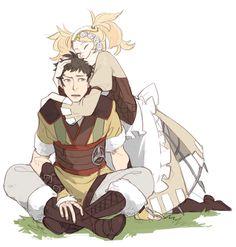 Owain and Lissa. If u don't know (Which u probably don't... Whoops.) Owain is my favorite freakin character from fire emblem. SACRED STONES!