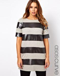 @asos.com Shift Dress with Metallic Stripe on my BRAIN !