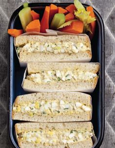 Emeril Lagasse's Egg Salad Supreme sandwich.   Ingredients    12 hard-boiled eggs  1/2 teaspoon salt  1 teaspoon dry mustard  1/2 teaspoon hot Hungarian paprika  ¼ cup minced shallot  ¼ cup chopped green onion or fresh parsley leaves  ¼ cup minced celery  1/2 cup mayonnaise, homemade  12 slices White Sandwich Bread