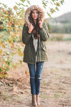Morning Lavender, Fur hooded parka, cold weather outfits, cozy jackets, faux fur jackets, removable fur lining, fall look, winter look