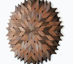 Reclaimed Wood Art 40 Wood Starburst Wood Circle by LakefrontWoods