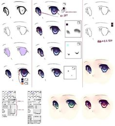 anime eye photoshop drawing