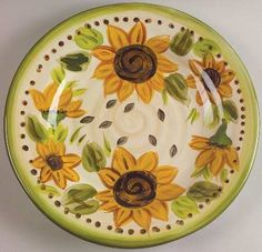 sunflower  cake  plate | Sunflower plate