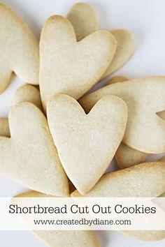 heart shortbread cut out cookies www.createdbydiane.com